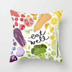 Eat Well Throw Pillow