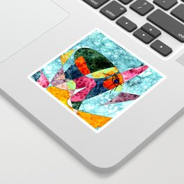 The laughing horse Sticker