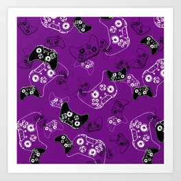Video Game Purple Art Print