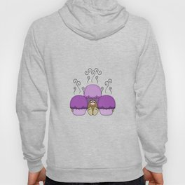 Cute Monster With Purple Frosted Cupcakes Hoody