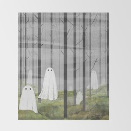The Woods are full of Ghosts Throw Blanket