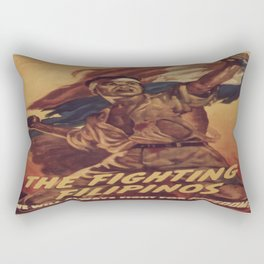 Vintage poster - The Fighting Filipinos Rectangular Pillow