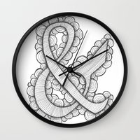 ampersand Wall Clocks featuring Ampersand by Laura Maxwell
