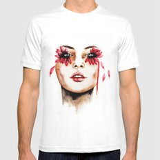 Cry  Mens Fitted Tee MEDIUM White