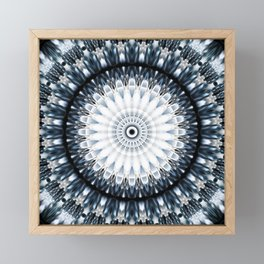 Magical winter fun mandala Framed Mini Art Print