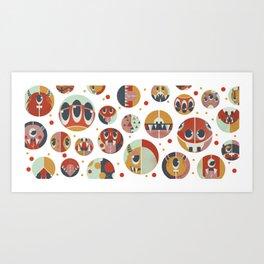 Monster dots Art Print