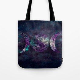 Triple Moon Goddess Universe Tote Bag