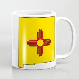 New Mexico Map with State Flag Coffee Mug