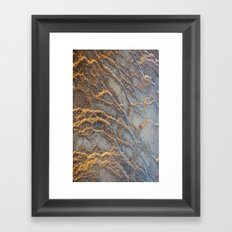 Travertine - blue gray Framed Art Print