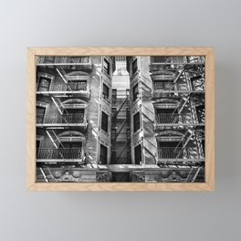 New York fire escapes Framed Mini Art Print