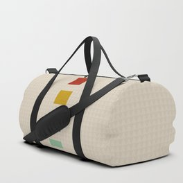 four elements || tweed & primary colors Duffle Bag