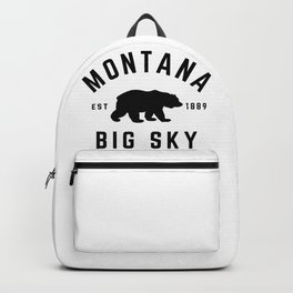Montana Grizzly Bear Big Sky Country Established 1889 Vintage Backpack
