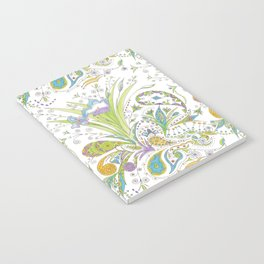 Whimsical Paisley Iris Notebook