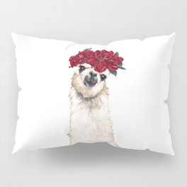 Sexy Llama with Roses Crown Pillow Sham