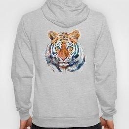 Tiger Head watercolor Hoody