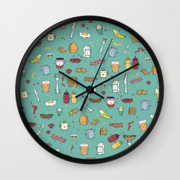 Breakfasts are people too Wall Clock