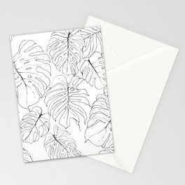 Monstera Deliciosa (Delicious Monster Leaves) Stationery Cards