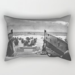 Omaha Beach Landing D Day Rectangular Pillow