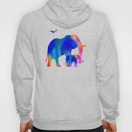 Elephant mom and baby Hoody