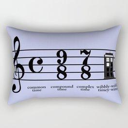 Wibbly-wobbly timey-wimey Rectangular Pillow