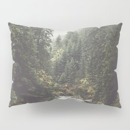 Mountain creek - Landscape and Nature Photography Pillow Sham