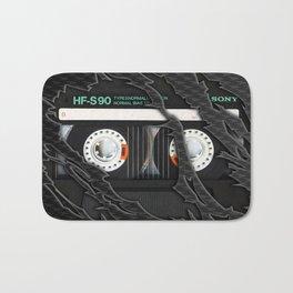 Retro classic vintage Black cassette tape Bath Mat