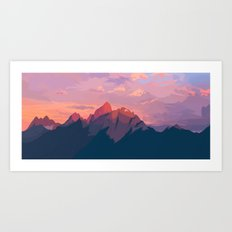 Sunset Hues Art Print