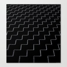 ZigZags Dark Canvas Print