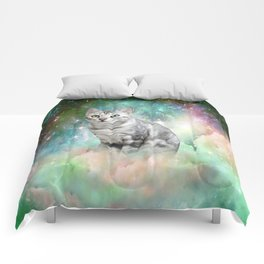 Purrsia Kitty Cat in the Emerald Nebula of Innocence Comforters