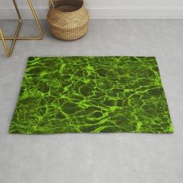 Neon Green Underwater Wavy Rippling Water Rug