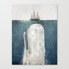 The Whale - vintage  Canvas Print