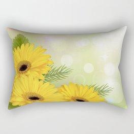 Art Flowers V18 Rectangular Pillow