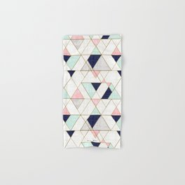 Mod Triangles - Navy Blush Mint Hand & Bath Towel