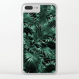 Tropical Palm Leaf Jungle Night #1 #tropical #decor #art #society6 Clear iPhone Case