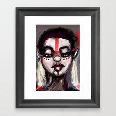 Painted Face Framed Art Print