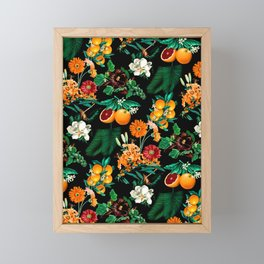 Fruit and Floral Pattern Framed Mini Art Print