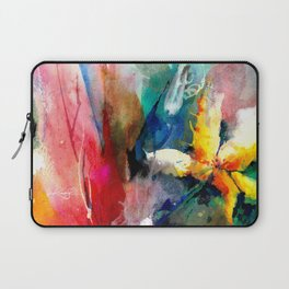 Yellow Flower by Kathy Morton Stanion Laptop Sleeve