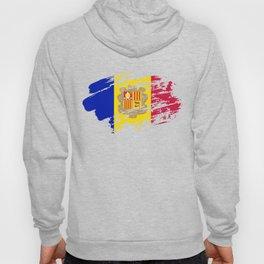 Andorra Flag Tee Shirt Hoody