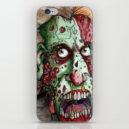 snot nosed boil zombie iPhone Skin
