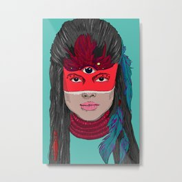 Indianos americana Metal Print