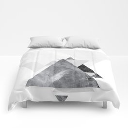 GEOMETRIC SERIES II Comforters