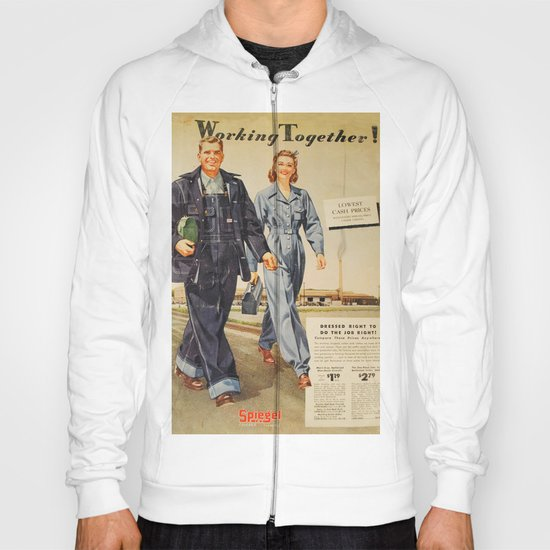 1942 Working Together Cover Hoody