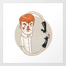 Dexter (Alphabet series TV) Art Print