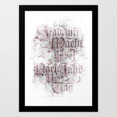 Stadtluft Macht Frei Nach Jahr Und Tag. Art Print