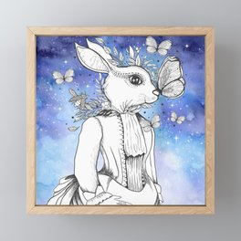 Magic Fairy Incantations Spark Rabbit Transformations Framed Mini Art Print