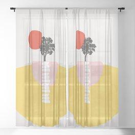 Modern shapes 5 Sheer Curtain