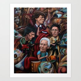 The Stones Are Rolling Art Print