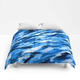 Blue on Blue Designer Camouflage pattern Comforters