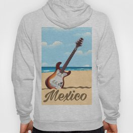 Mexican Guitar travel poster Hoody