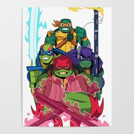 Rise of the new Turtles Poster